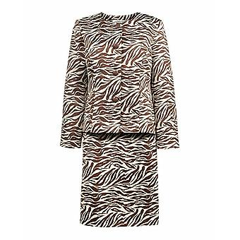Zebra Print Mini Skirt Suit Set