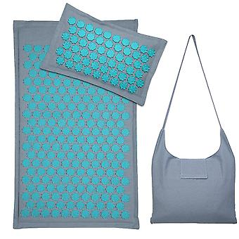 Nature Linen Lotus Spike Acupressure Yoga Pillow Mat Com Saco