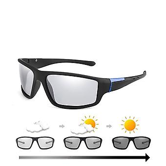Photochromic Sunglasses Matte Black Sports Goggles/women