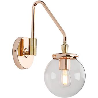 Phansthy Vintage Wall Light with Globe Glass Shade, Adjustable Wall Lamps