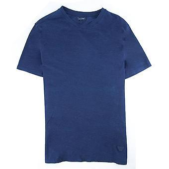Armani Jeans Eagle Logo Crewneck T Shirt Blau