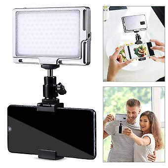 K&f concept led video light with phone clip and hot shoe, 3000k-6500k rechargeable 96 on camera pane