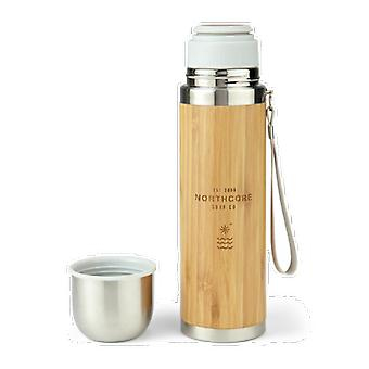 Northcore bamboo stainless stell thermos flask with mug