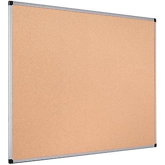 Bi-Office CA051170 Maya Cork Notice Board Aluminium Frame 120x90cm