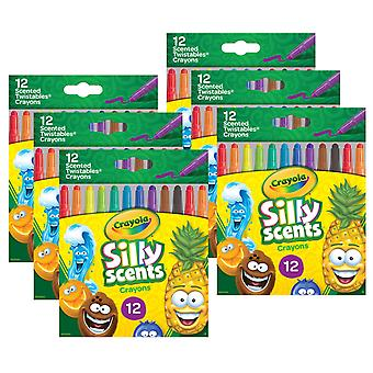 Silly Scents Mini Twistables Scented Crayons, 12 por paquete, 6 paquetes