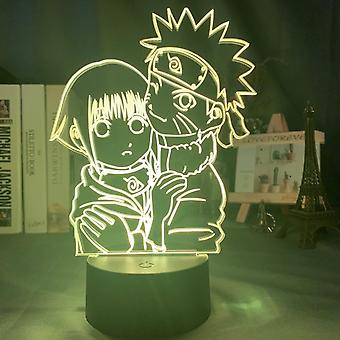 Japanilainen Anime Naruto Kuva 3d Yölamppu Makuuhuone Sisustus