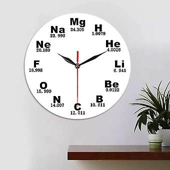 Emoyo ecy028 creative chemical element table wall clock 3d wall clock for home office decorations