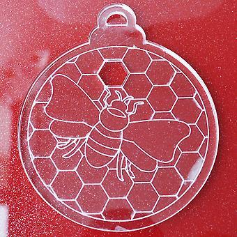6 Pk Пчела на сотах Прозрачные акриловые рождественские украшения