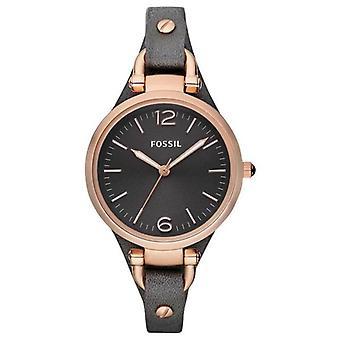 Fossil ES3077 Georgien med grå læderrem Ladie's Watch