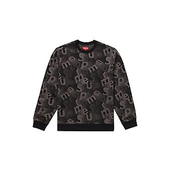 Supreme Scatter Text Crewneck Black - Clothing