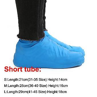 1 زوج المطاط القابل لإعادة الاستخدام اللاتكس ماء غطاء أحذية المطر