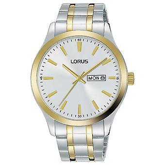 Lorus Mens | Hopeinen | Kaksisävyinen teräs rannekoru RH346AX9 Watch