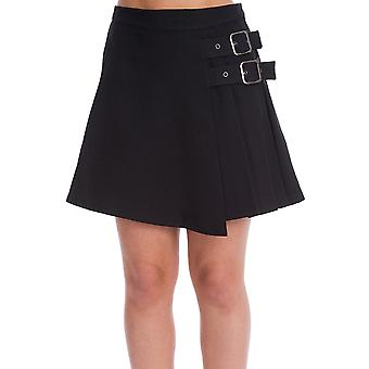 Banned Apparel Dull Moon Pleated Skirt