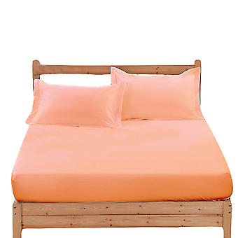 Cotton Non-Slip Solid Color Soft Bed Sheet