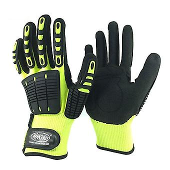 Cut Resistant Safety Anti Vibration Anti Impact Oil-proof Work Glove