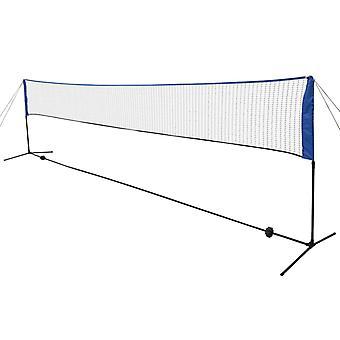 Badmintonnetz mit Federbällen 600x155 cm