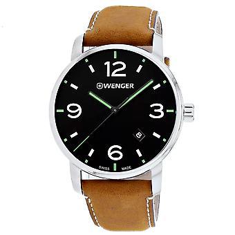 Wenger Men's Urban Black Dial Watch - 01.1741.117