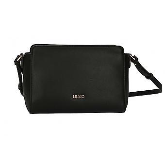 Bag Donna Liu-jo Crossbody Shoulder Strap S Black Faux Leather Bs21lj75 Aa1188