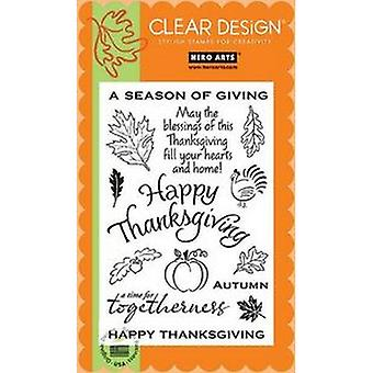 Hero Arts Clear Design: Season Of Giving Clear Stamp