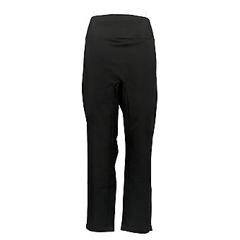 Women With Control Women's Pants XL Tummy Control Slim Leg Black A391212