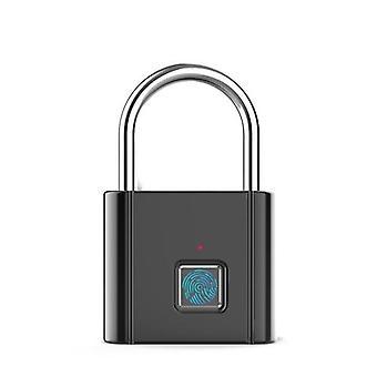 Deal Keyless Smartlock Quick Unlock Sormenjälkioven lukitus Turvallinen USB Sinkkiseos VarkaudenestoLukko Kodin turvallinen turvalukko ei tarvitse työkaluja, voit lisätä tai poistaa sormenjäljet helposti noudattamalla käyttöohjeen ohjeita