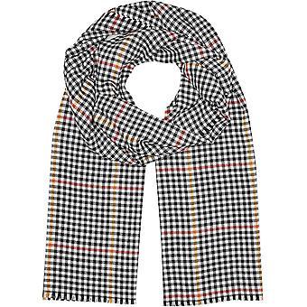 Wokex Damen Schal mit kariertem Muster Creme Check 1
