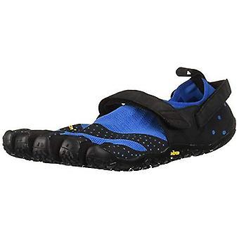 Vibram V-Aqua Mens Water Sports Trail Five Fingers Grip Shoes Trainers - Blue/Black