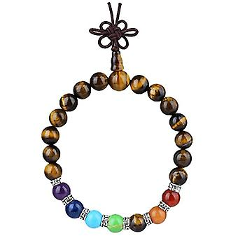 KYEYGWO 21 Mala bracelets with Chakra beads for men and women, unisex, with Reiki crystal stones and League, color: Ref Stone. 0715444069192