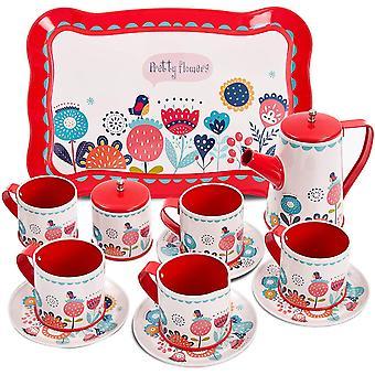 Kinder Teeservice Tee-Set Puppengeschirr Kaffeeservice Kinderküche Geschirr Küche Spielzeug