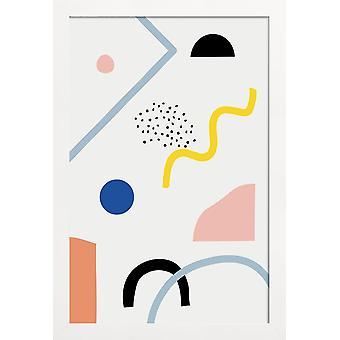 JUNIQE Print -  Curiosities - Abstrakt & Geometrisch Poster in Bunt