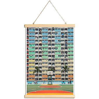 JUNIQE Print - På retten - Arkitektoniske Detaljer Plakat i Bunt