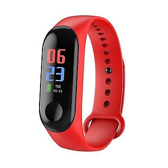 Sport Armband Fitness Tracker Nachrichten Erinnerung Smart Armband Uhren (rot)