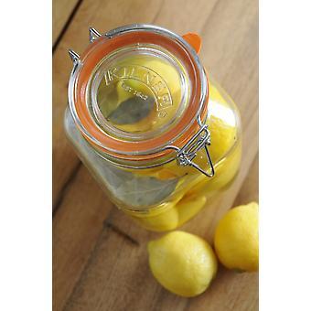 Kilner Clip Top Jar - Square 1.5L