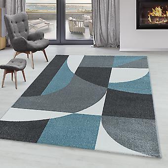 Sala de estar Carpet POWER Short Pile Soft Flor Design Zipcode Pattern Abstract