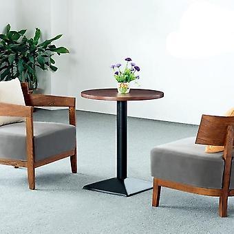 घर कार्यालय सजावट के लिए सरल आधुनिक असली लकड़ी कैफे टेबल कुर्सी