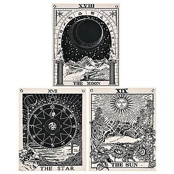 Pack Of 3 Tarot Tapestry The Sun The Moon The Star