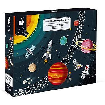 J02678 100-teiliges pädagogisches Kinderpuzzle Sonnensystem-Entwicklung von Feinmotorik und