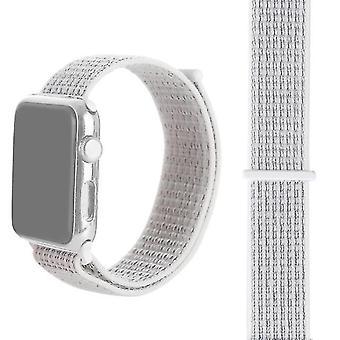 Nylon horlogeband met Magic Stick Voor Apple Watch series 3 en 2 en 1 38 mm (zilver)