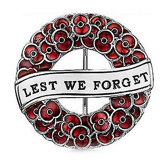 Dámská brož karmínově malovaná mák corsage britská pamětní, abychom nezapomněli na brožový špendlík