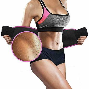 Mujer Entrenador de cintura Cinturón Recortador Sudor Shaper Quemador de grasa Fitness Pérdida de peso