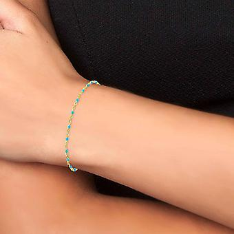 Bracelet Femme Ang�le M - B2395-BLEU Acier Dor�