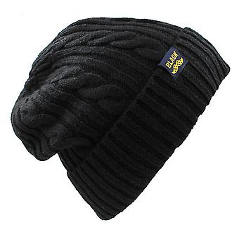 Tricot Skullies Chapeau d'hiver Casquettes Fausse fourrure Tricoté Chapeau Hommes Bonnet Chaud Baggy Chapeau Pour Hommes Femmes Bonnet