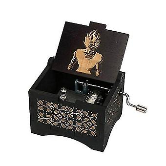 Dragon Ball-hand Crank 18 Tones Black Wooden Music Box