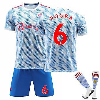 POGBA #6 Trikot 2021-2022 Saison Manchester Fußball T-Shirts Trikot Set für Kinder Jugend