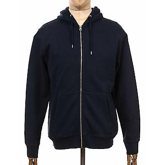 Colorful Standard Organic Cotton Hooded Jacket - Navy Blue