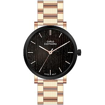 Carlo Cantinaro Rose Gold Stainless Steel CC1001GB004 Men's Watch