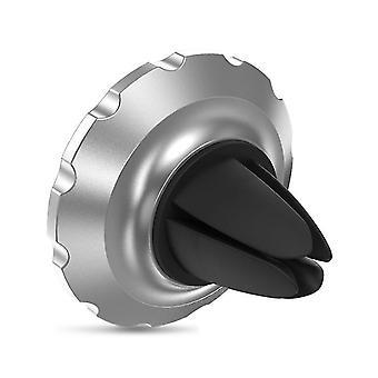 salida de aire del coche ventosa magnética tipo soporte multifuncional para teléfono móvil (plata)
