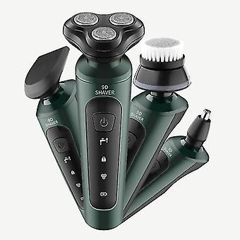 9D sähköinen parranajokone miesten ja #39;partaparran parta partatrimmerin parranajokone sarja 3 terää kannettava ladattava
