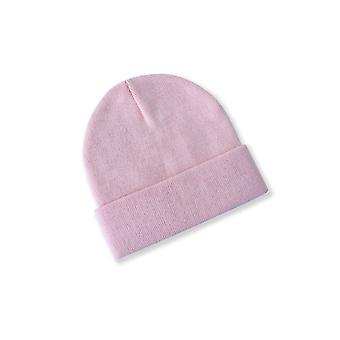 כובעי ביני חורף לנשים יוניסקס כותנה מרופדת חם סרוג כובע שכבה כפולה