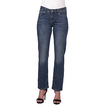 blå hvit kvinners rett kutt pluss størrelse jeans